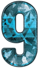 Kaz_Creations Numbers Blue Crystal 9