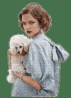 woman dog  femme chien 👩🦱🐶