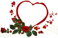 Kaz_Creations  Deco Heart Love Flowers Frame