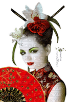 geisha red asian woman femme asiatique