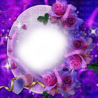 pink purple rose frame🌹🌹 deco pink violet cadre rose