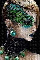 woman peacock face bp
