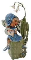 gnome child fairy enfant fleur feerie