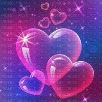 Fond coeur violet rose bulle debutante heart bg purple bg pink heart bubble bg