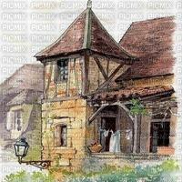 Haus, Turm, Hintergrund