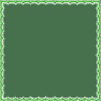 light green frame cadre vert
