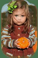 child autumn  pumpkin enfant automne citrouille