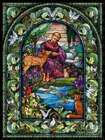 St. Francis Assisi Stain Glass, Joyful226