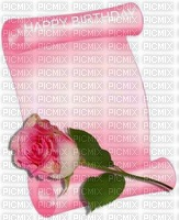 image ink happy birthday flower rose texture color edited by me