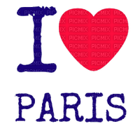 i love paris text