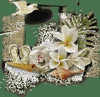 soave background transparent deco summer flowers bird White green