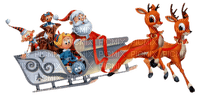 Père Noël en traîneau Santa Claus sledding