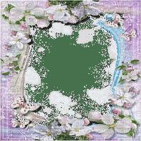 purple flower frame pourpre fleur cadre