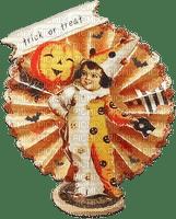 soave halloween children boy  vintage text pumpkin