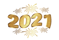 2021 text new year gold