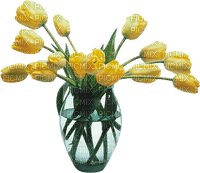 yellow tulips glas vase  jaune tulipe 🌷🌷