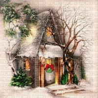 Winter, Landschaft, Haus, Hintergrund