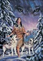 Loups et indienne