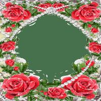 frame  red roses  cadre rose rouge