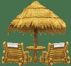 Kaz_Creations Beach Chairs and Umbrella Parasol