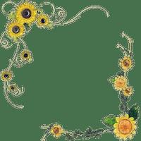 Cadre jaune tournesol fleurs Debutante nature cadre fleur yellow frame yellow fleurs sunflower