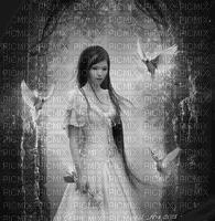 woman gothic dove femme gothique