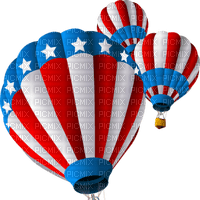 Kaz_Creations America 4th July Independance Day American Stars Hot Air Balloons