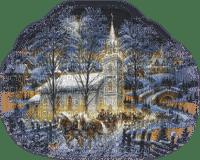paysage d'hiver église