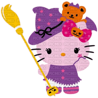 Hello kitty halloween sorcière witch purple bat