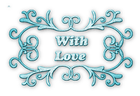 soave text deco with love valentine's day teal