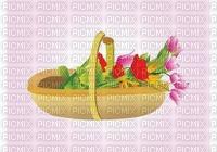multicolore image encre bon anniversaire printemps tulipes color rose pastel effet fleurs panier edited by me