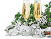 christmas new year glasses deco bonne annee