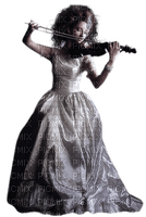 goth woman femme violin gothique femme