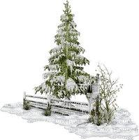 sapins neige pine tree snow fence