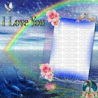 I love you fond fond nature fleurs roses oiseau dauphin Debutante arc-en-ciel