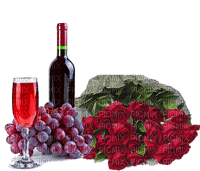 Bouteille et des Roses **