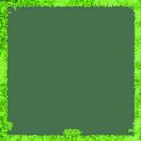 GREEN FRAME TRANSPARENT --cadre vert