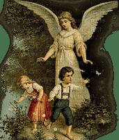 GUARDIAN ANGEL PROTECT CHILDS ANGE ENFANTS