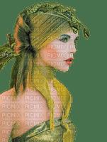 woman green fantasy femme vert fantaisie💚