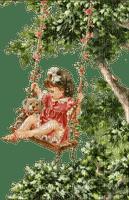 Enfant,fille balançoire