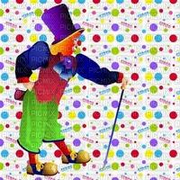 image encre color effet à pois pitre bon anniversaire cirque carnaval  edited by me