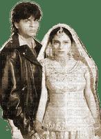 soave bollywood Shahrukh khan couple sepia