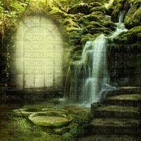 minou-bg-fantasy-waterfall