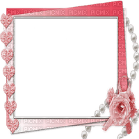 RED pink FRAME FLOWERS HEARTS rouge rose cadre fleurs coeur