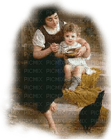 vintage mom and child maman enfant