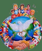 peace world people - paintinglounge