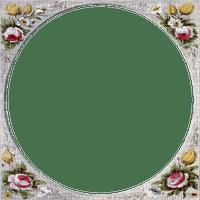 vintage flower frame circle cadre cercle fleurs