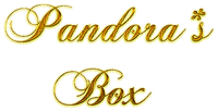 pandoras box text gold or