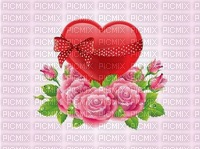 image encre coleur effet à pois mariage anniversaire fleurs coeur roses  edited by me