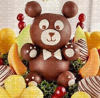 Fraises au chocolat chiot décoré fruit frais fête
